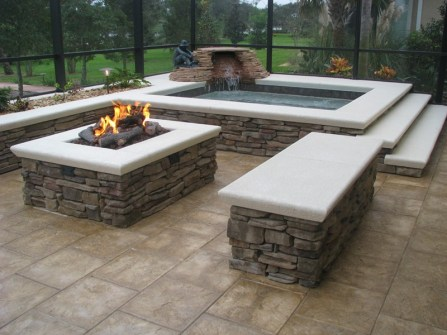 spa and fire pit 2