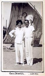 Coco Chanel y Lucien Lelong. Album personal de Baba de Faucigny-Lucinge.