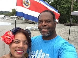 Enjoying the beach on the western side of Costa Rica 2019