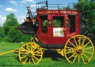 Bill Eggers: 1865 Wells Fargo Stagecoach Left Side