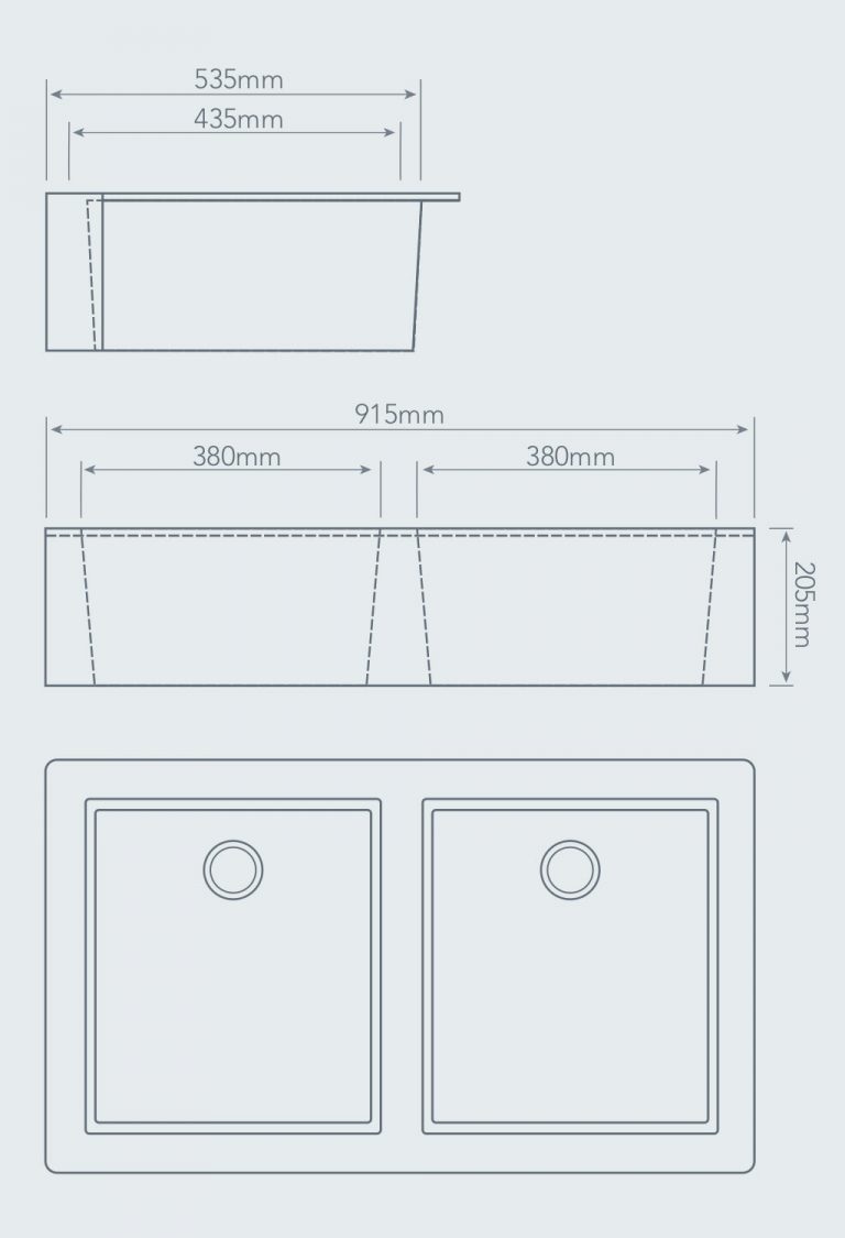 hight resolution of apron front double bowl