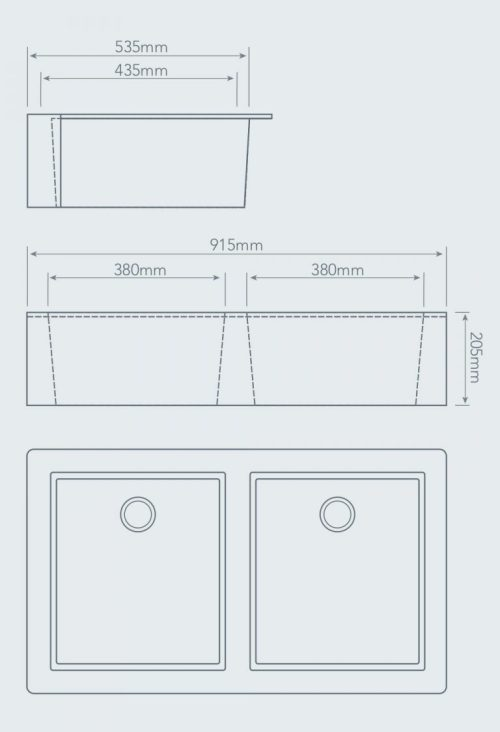 small resolution of apron front double bowl