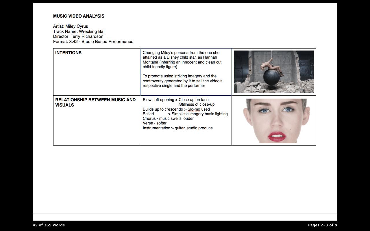 Music Video Analysis: Miley Cyrus