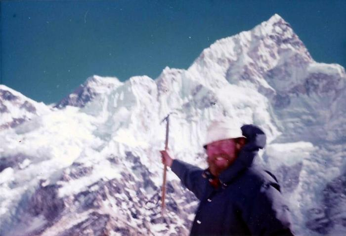 Bill McGee on a trek to Mt. Everest, 1973