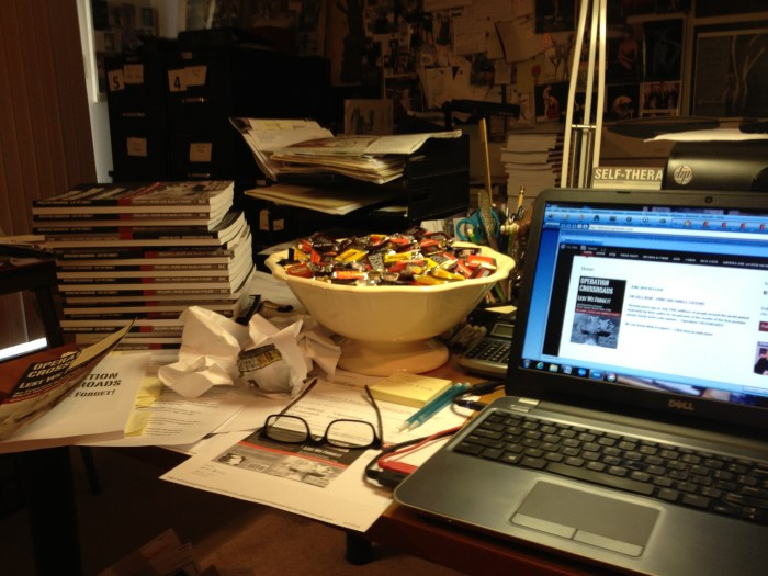 Don't Overthink It... a writer's desk