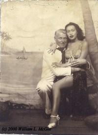 Bill McGee on liberty, Honolulu, 1943