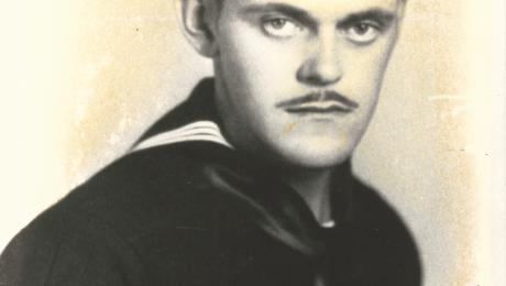 U.S. Navy Boatswain Ray Weathers, a survivor of The Fatal Voyage of Task Unit 32.4.4, 1943