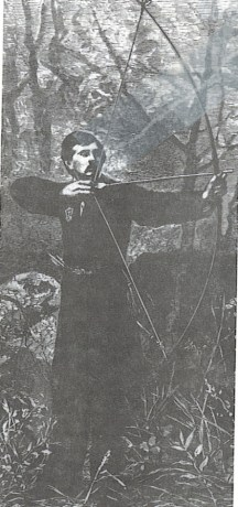 With his longbow