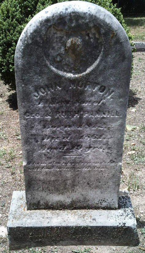 GRAVESTONE OF JOHN MORTON PANNILL