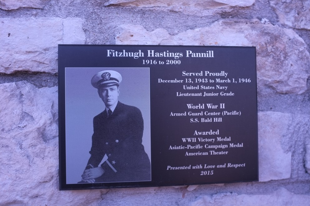 Plaque hung at the Pacific War Museum
