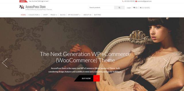 free ecommerce wordpress themes accesspress