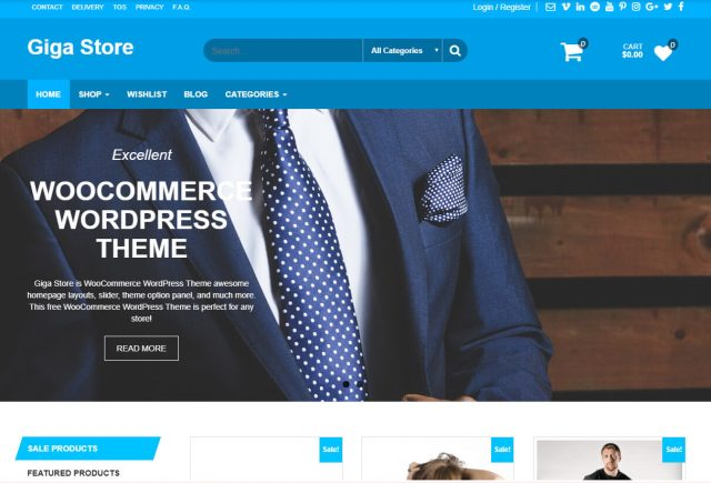 free ecommerce wordpress themes gigastore