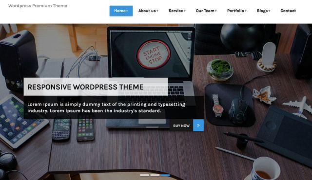 free landing page wordpress theme esol