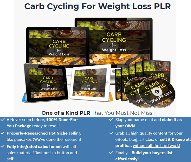 Carb Cycling For Weight Loss PLR Review