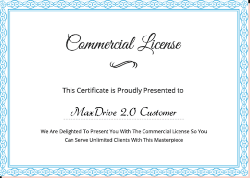 MaxDrive 2.0 Review Feature Limited Commercial License