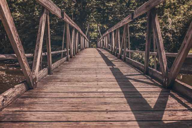bridge path straight wooden