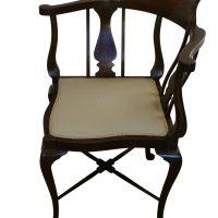 An Edwardian mahogany corner chair - Williams Antiques