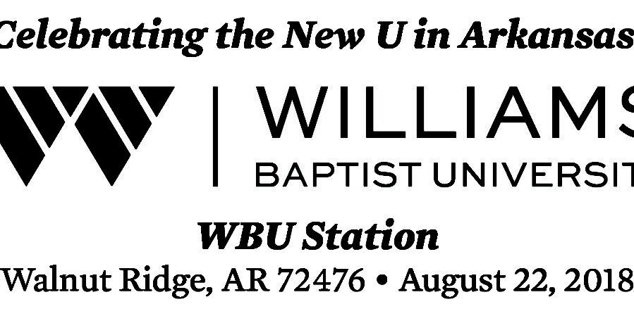 Commemorative Postmark to Celebrate WBU Transition