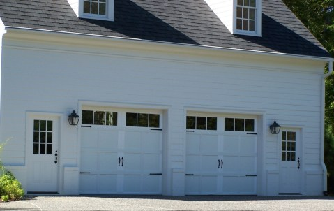 Garage doors - White siding