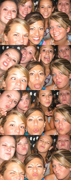 Girls having fun in the Williamsburg Photo Booth
