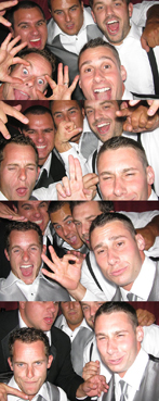 Guys having fun in the Williamsburg Photo Booth
