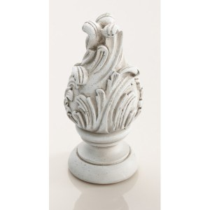 """Wave Finial 2""""- Old World White"""