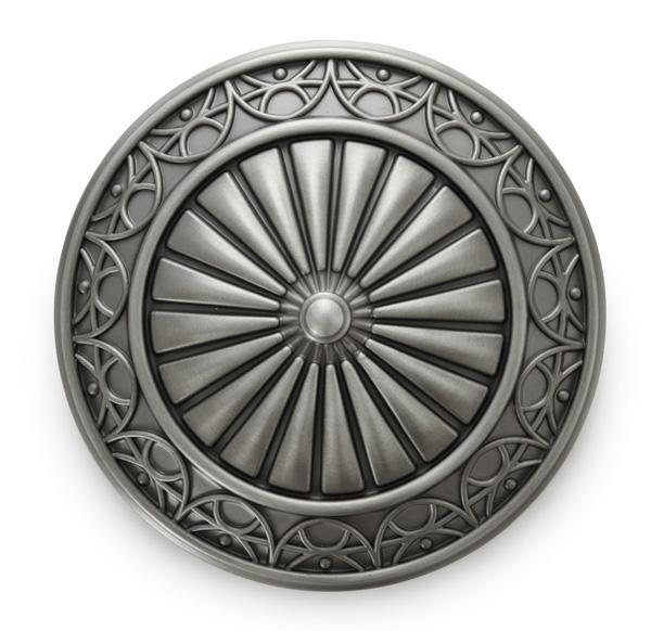 "3"" Camber Medallion Holdback - Antique Silver"