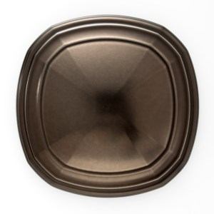 "3"" Transitional Square Medallion Holdback - Caramel Bronze"