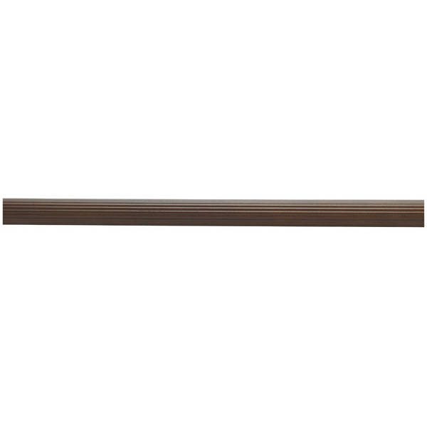 "1-3/8"" Wooden Curtain Rod - Fluted - Coffee"