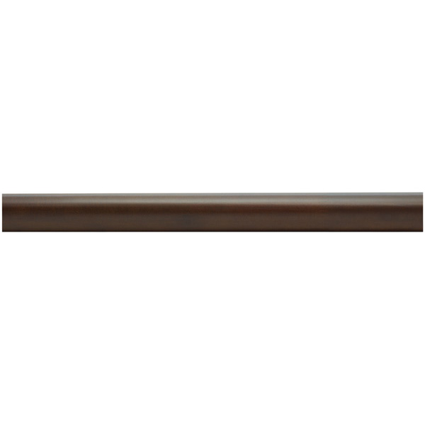 "1-3/8"" Wooden Curtain Rod - Smooth - Coffee"