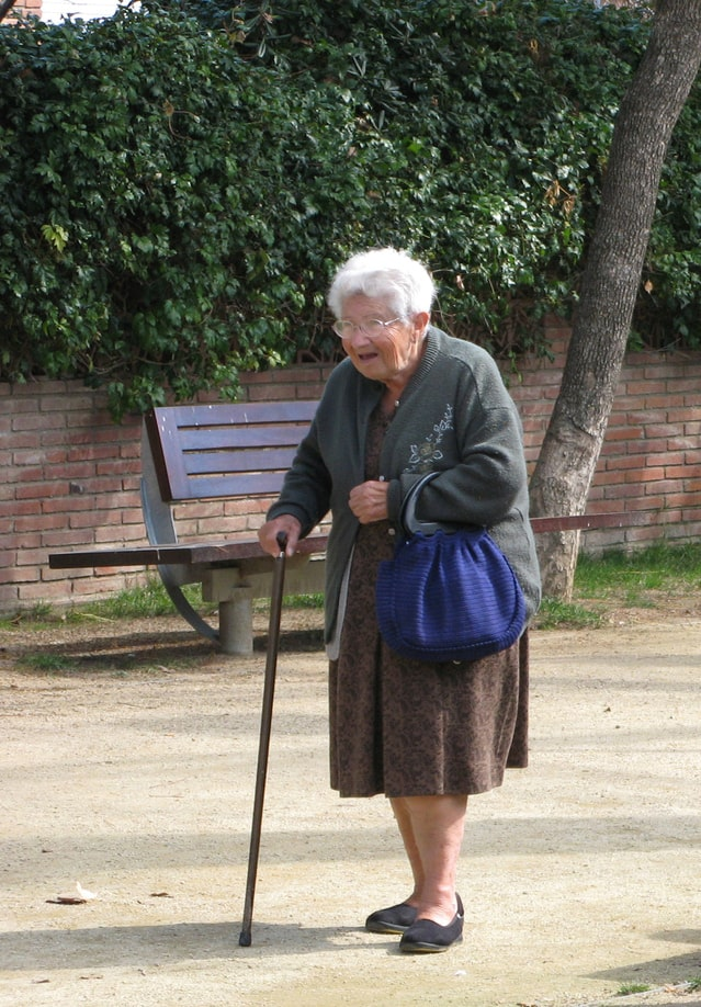 Image of an old parent refusing to move to an assisted living or nursing home.