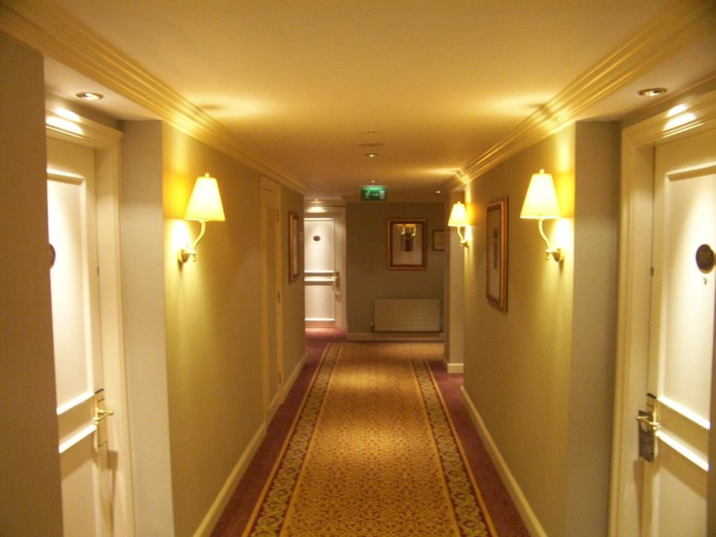 Image of a hotel corridor for an article about wheelchair accessible hotels.