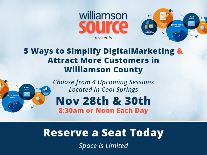 Direct digital marketing is a method of marketing handled primarily through direct digital channels like email and web. WilliamsonSOURCE to Host Free Digital Marketing Workshop ...