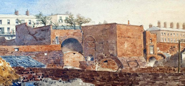 The Double Tunnel featured in a painting from the 1880s. Courtesy Liverpool City Libraries.