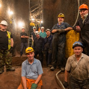 Volunteers in the empty Ash Chamber