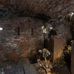 Boiler Room, Looking under the new stair case