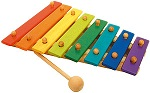 Multicolored xylophone