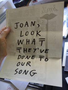 Ray Johnson to Joan Harrison, %22Look What They've Done to Our Song%22 (front)