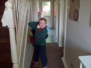 The little lady off to cub camp