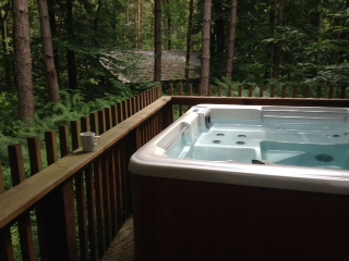 Our hot tub at Sherwood Pines