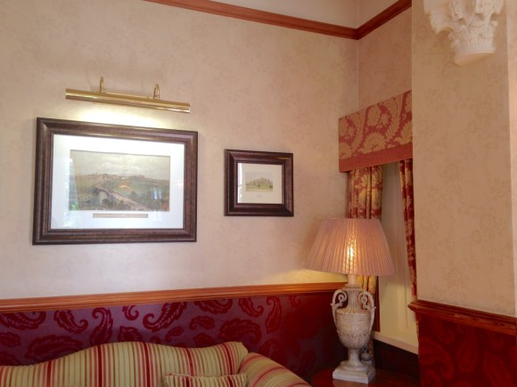 The lounge at Nunsmere Hall Hotel