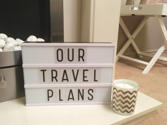 Our travel plans for 2017