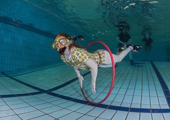 Daughter snorkelling