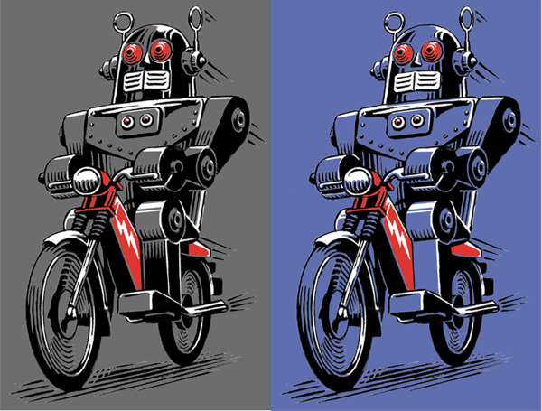 Two robots on mopeds are better than one