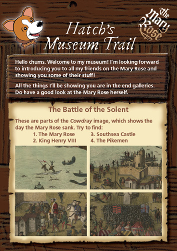 Children's A5 activity pack for the Mary Rose Museum, illustration & design for Colour Heroes - InDesign, Photoshop