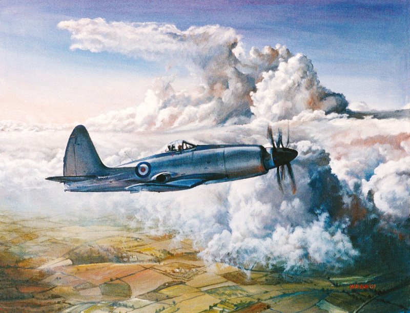 Westland Wyvern, private commission - acrylic on canvas