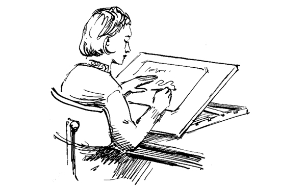 Drawing board seating position