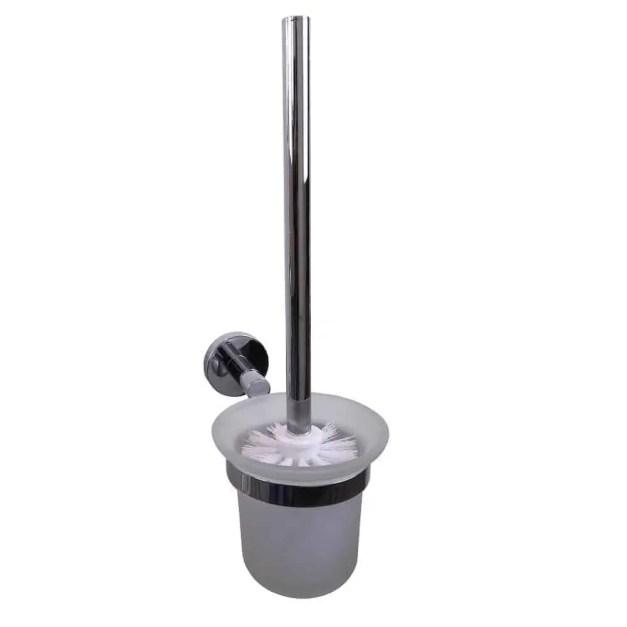 Toiletborstel met houder Verchroomd Messing 8606