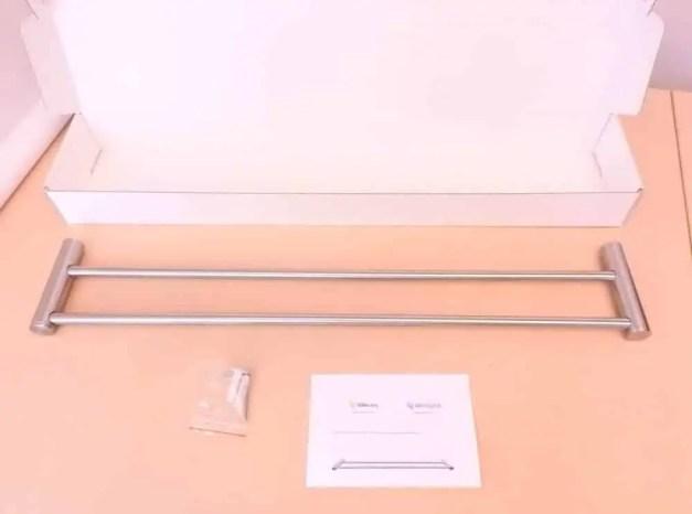 WillieJan handdoekenrek dubbel 7302 - Geborsteld RVS - stangen