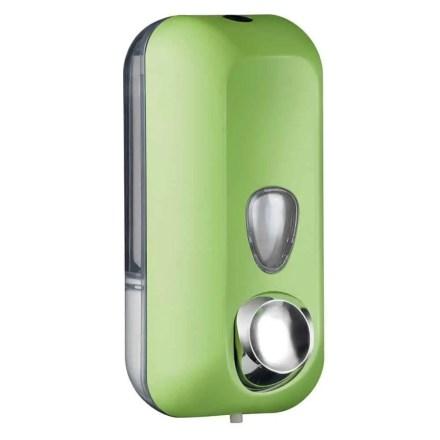 Marplast zeepdispenser A71401VE - Professionele kwaliteit - Groen met Transparant - 550 ml - Geschikt voor openbare ruimten